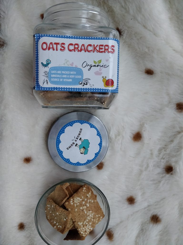 Healthy Snack for Babies - Hungrybums Oat Crackers