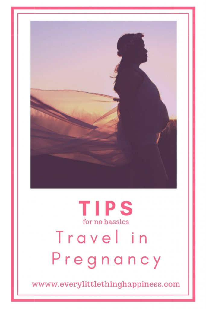 Tips for Traveling in Pregnancy