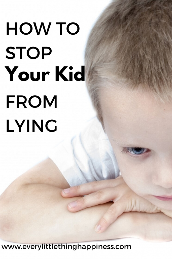 Sad kid face  with text How to stop your kid from Lying and blog www.everylittlethinghappiness.com